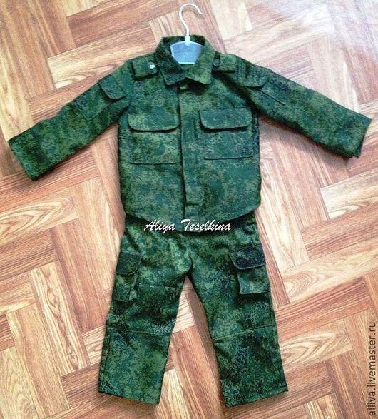 Одежда для мальчиков, ручной работы. Ярмарка Мастеров - ручная работа. Купить детский комуфляж. Handmade. Военный комплект, хб