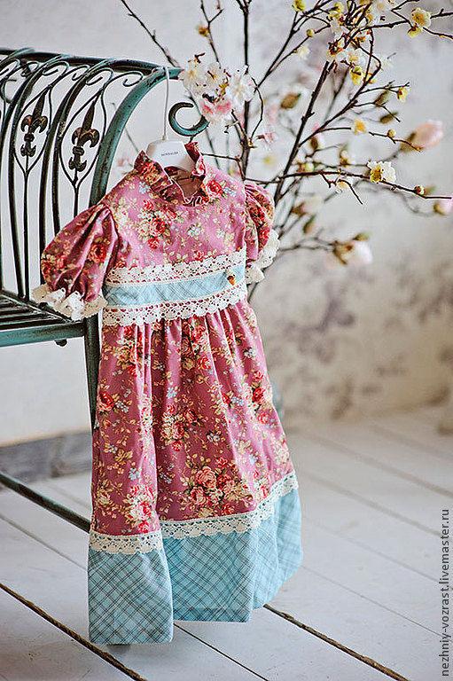 """Одежда для девочек, ручной работы. Ярмарка Мастеров - ручная работа. Купить Платье  """"Маришка"""". Handmade. Цветочный, ретро платье"""