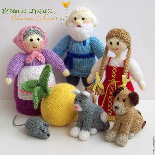 """Развивающие игрушки ручной работы. Ярмарка Мастеров - ручная работа. Купить """"Репка"""" вязаная сказка. Handmade. Вязаные игрушки, дед"""