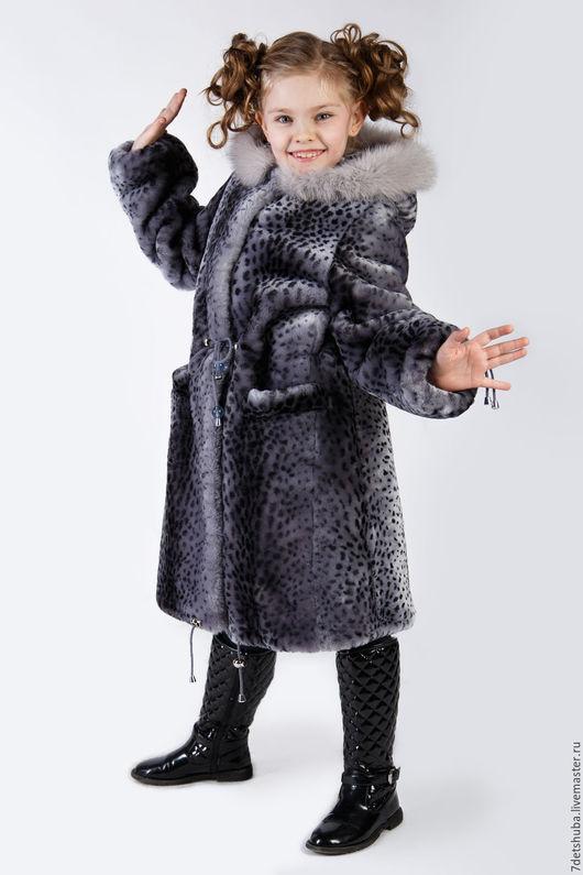 Верхняя одежда ручной работы. Ярмарка Мастеров - ручная работа. Купить Пальто для девочки из натурального меха. Handmade. Серый