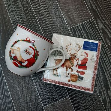 Винтаж ручной работы. Ярмарка Мастеров - ручная работа Villeroy&Boch. Кружка новогодняя. Handmade.