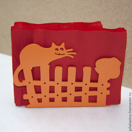 Кухня ручной работы. Ярмарка Мастеров - ручная работа. Купить кот на заборе. Handmade. Разноцветный, сталь