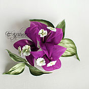 Цветы и флористика handmade. Livemaster - original item Flowers made of fabric. Silk flowers. Brooch