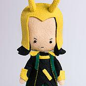 Куклы и игрушки ручной работы. Ярмарка Мастеров - ручная работа Локи - кукла по мотивам фильма Мстители. Handmade.