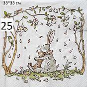 25. Салфетка для декупажа. Кролики