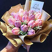 Мыло ручной работы. Ярмарка Мастеров - ручная работа «Букет из 15 тюльпанов»,мыло ручной работы. Handmade.