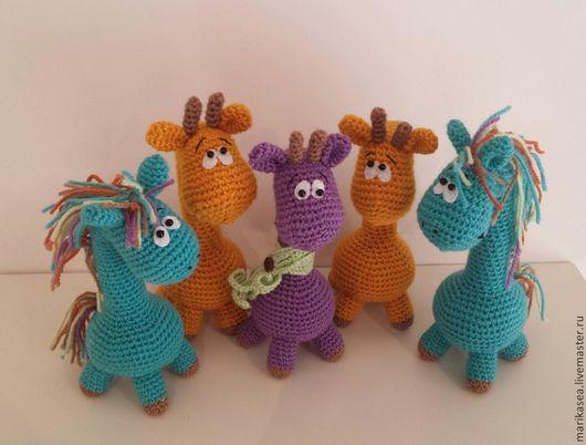 Игрушки животные, ручной работы. Ярмарка Мастеров - ручная работа. Купить жирафики и пони. Handmade. Белый, лошадка текстильная