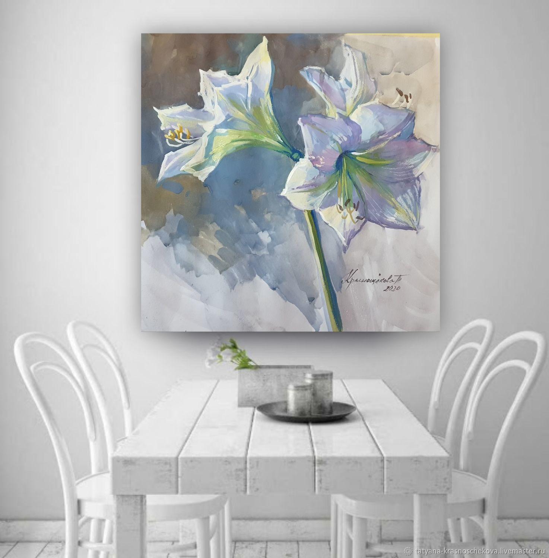 картина Цветы амариллиса, Картины, Самара,  Фото №1