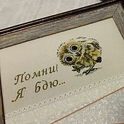 Картины и панно ручной работы. Ярмарка Мастеров - ручная работа Панно для заметок Совенок. Handmade.