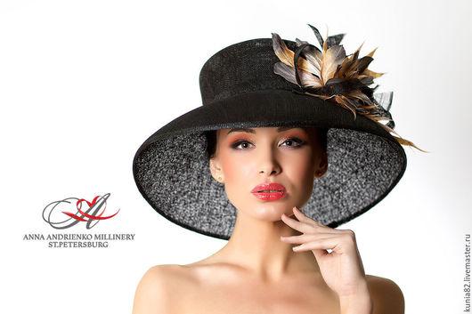 Свадебные и вечерние аксессуары ручной работы.Эксклюзивная широкополая шляпа `Queen`. Анна Андриенко.