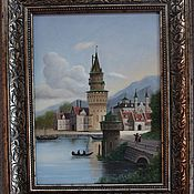 Pictures handmade. Livemaster - original item Holland. Castle. 30h40cm. Handmade.