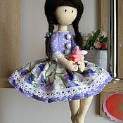 Куклы и игрушки ручной работы. Ярмарка Мастеров - ручная работа Кукла с зайчиком. Handmade.
