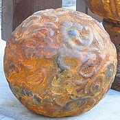 Для дома и интерьера handmade. Livemaster - original item Ball stone openwork garden decor aged. Handmade.