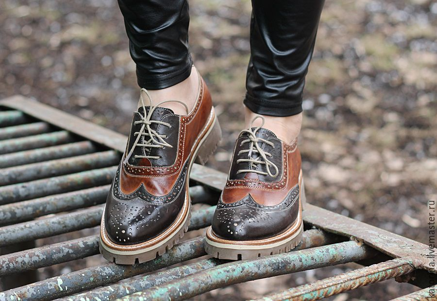 Copy of Boots moccasin leather with uneven edge Dark, Oxfords, Moscow,  Фото №1