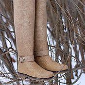 """Обувь ручной работы. Ярмарка Мастеров - ручная работа Валяные ботфорты """"Классика"""". Handmade."""