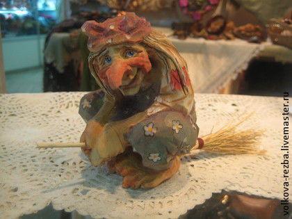 Сказочные персонажи ручной работы. Ярмарка Мастеров - ручная работа. Купить Баба Яга-деревянная скульптура, авторская работа. Handmade.