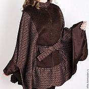 """Одежда ручной работы. Ярмарка Мастеров - ручная работа Пальто пончо """"Еления"""" из жаккардовой шерсти на подкладке. Handmade."""