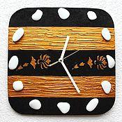 Для дома и интерьера handmade. Livemaster - original item Wall clock Black and gold. size 30 x 30 cm.. Handmade.