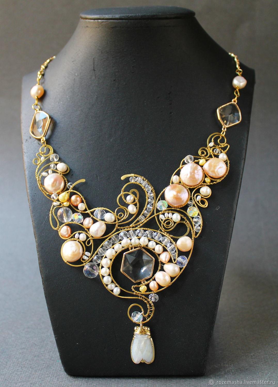 Pearl Cicada Necklace, Necklace, St. Petersburg,  Фото №1