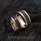 Свадебный салон ручной работы. Ярмарка Мастеров - ручная работа Золотые кольца с деревом. Handmade.