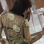 Одежда ручной работы. Ярмарка Мастеров - ручная работа Кофта вязаная крючком Золотые цепи. Handmade.