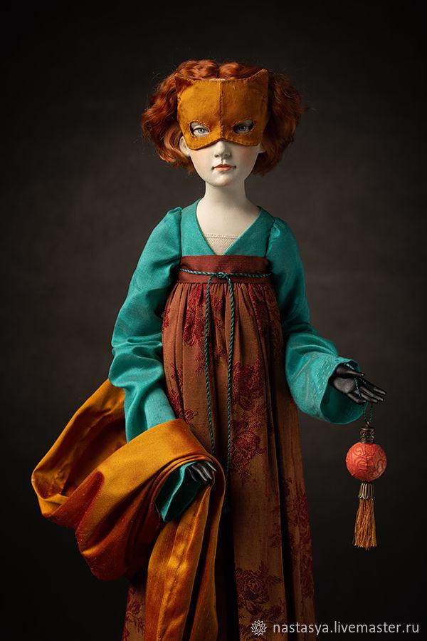 Авторская кукла Лиса, Интерьерная кукла, Москва,  Фото №1