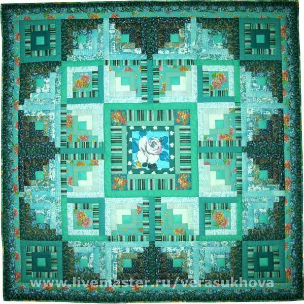 A blanket 'Green turquoise' 200h200cm, Blanket, Ivanovo,  Фото №1