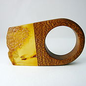 Украшения handmade. Livemaster - original item Ring amber 18 size P-042. Handmade.