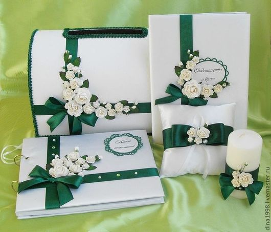 Свадебные аксессуары ручной работы. Ярмарка Мастеров - ручная работа. Купить Свадебная коллекция. Handmade. Тёмно-зелёный, сундук для денег