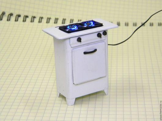 Кукольный дом ручной работы. Ярмарка Мастеров - ручная работа. Купить Кухонная плита  газовая советская  для кукольного домика. Handmade.