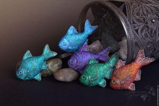 Броши ручной работы. Ярмарка Мастеров - ручная работа. Купить Рыбки-броши. Handmade. Рыба, барбус, основа для броши