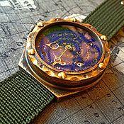 "Часы наручные ручной работы. Ярмарка Мастеров - ручная работа Бронзовые наручные часы ""Андромеда"" (цена договорная). Handmade."