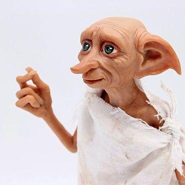 Куклы и игрушки ручной работы. Ярмарка Мастеров - ручная работа Добби, Гарри Поттер, фигурка из полимерной глины. Handmade.