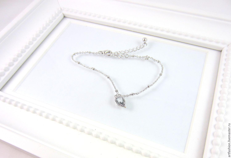 Браслет серебряный Серебряная вселенная, серебро браслет, кварц