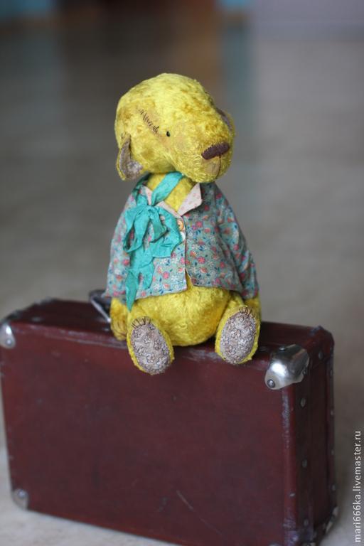 Мишки Тедди ручной работы. Ярмарка Мастеров - ручная работа. Купить Маркел.. Handmade. Желтый, винтажная фурнитура