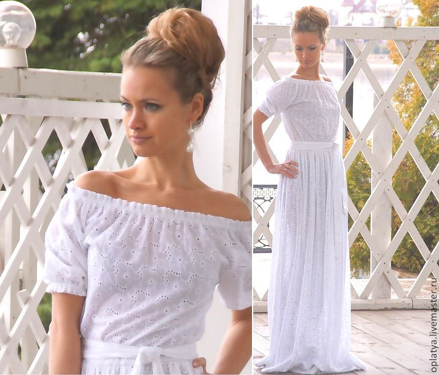 В воздушном платье летом