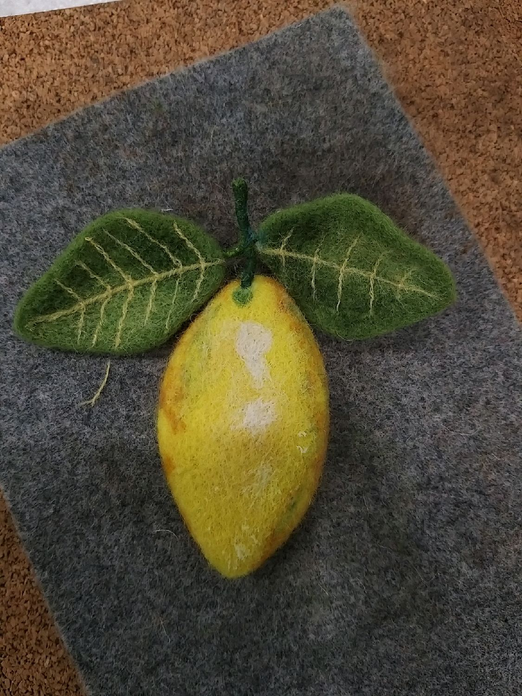 Брошь лимон, Брошь-булавка, Казань,  Фото №1