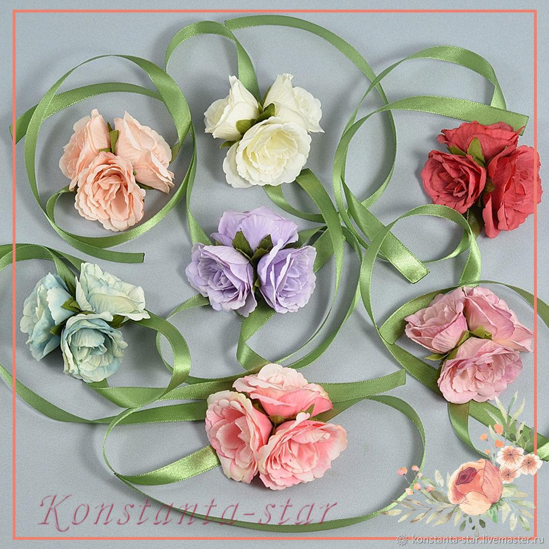 Браслеты с цветами роз  в асоортименте, Браслеты, Москва,  Фото №1