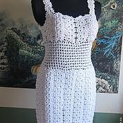 Одежда handmade. Livemaster - original item Author`s knitted summer dress crochet