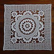 Для дома и интерьера handmade. Livemaster - original item Lace square doily crochet №9. Handmade.