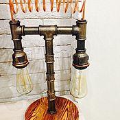 Элементы интерьера ручной работы. Ярмарка Мастеров - ручная работа Светильник в стиле Лофт. Handmade.