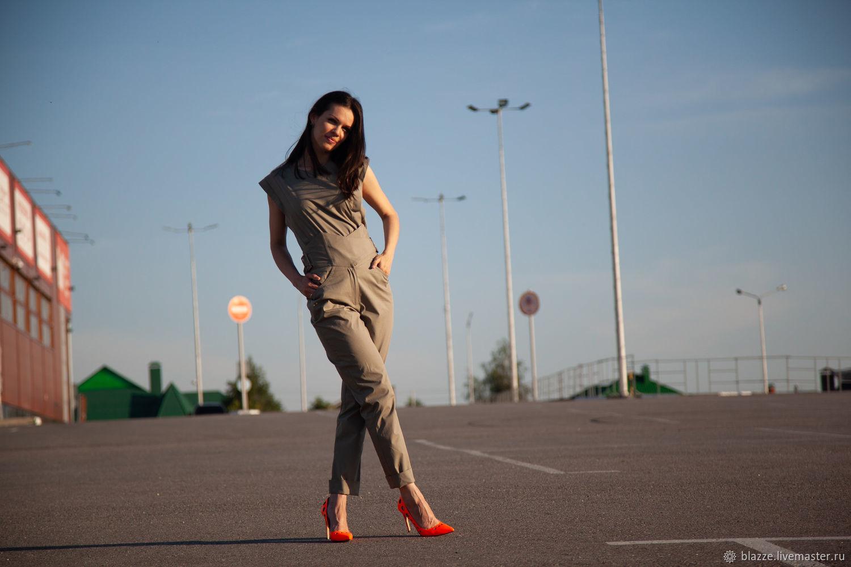 Летний костюм из хлопка в футуристическом стиле, Костюмы, Москва,  Фото №1