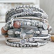 Украшения handmade. Livemaster - original item BOHO-chic bracelet with crystal