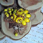 """Украшения ручной работы. Ярмарка Мастеров - ручная работа Брошь """"Желтая"""". Handmade."""