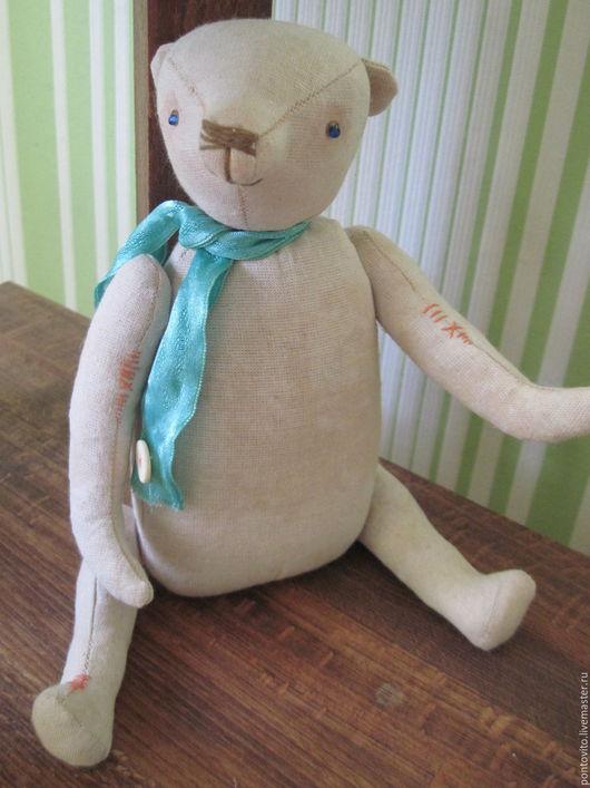 Игрушки животные, ручной работы. Ярмарка Мастеров - ручная работа. Купить Мишка. Handmade. Чердачная игрушка, примитивная кукла