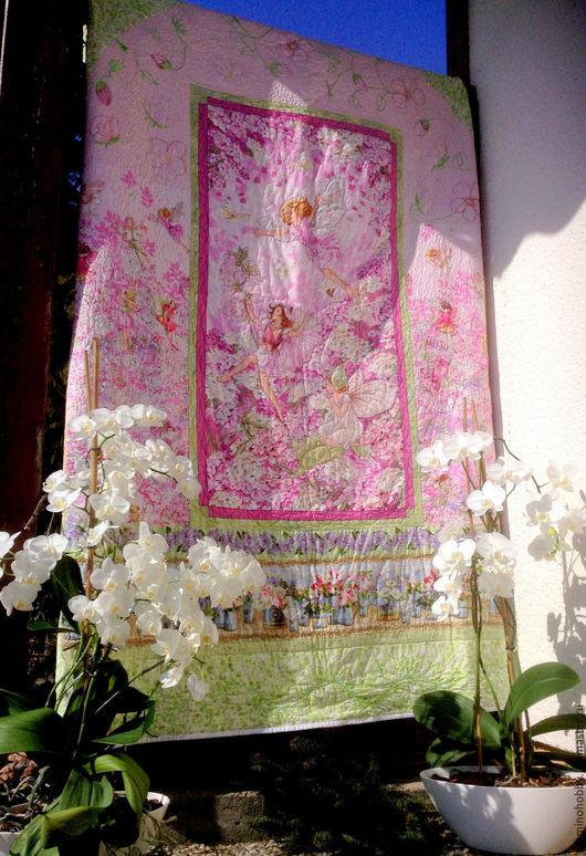 Текстиль, ковры ручной работы. Ярмарка Мастеров - ручная работа. Купить Лоскутное одеяло для девочки Вишневый бриз. Handmade.