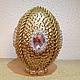 Подарки на Пасху ручной работы. Ярмарка Мастеров - ручная работа. Купить яйцо пасхальное золотое. Handmade. Золотой, яйцо на подставке