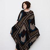 Одежда handmade. Livemaster - original item Dress free cut Geometry.. Handmade.