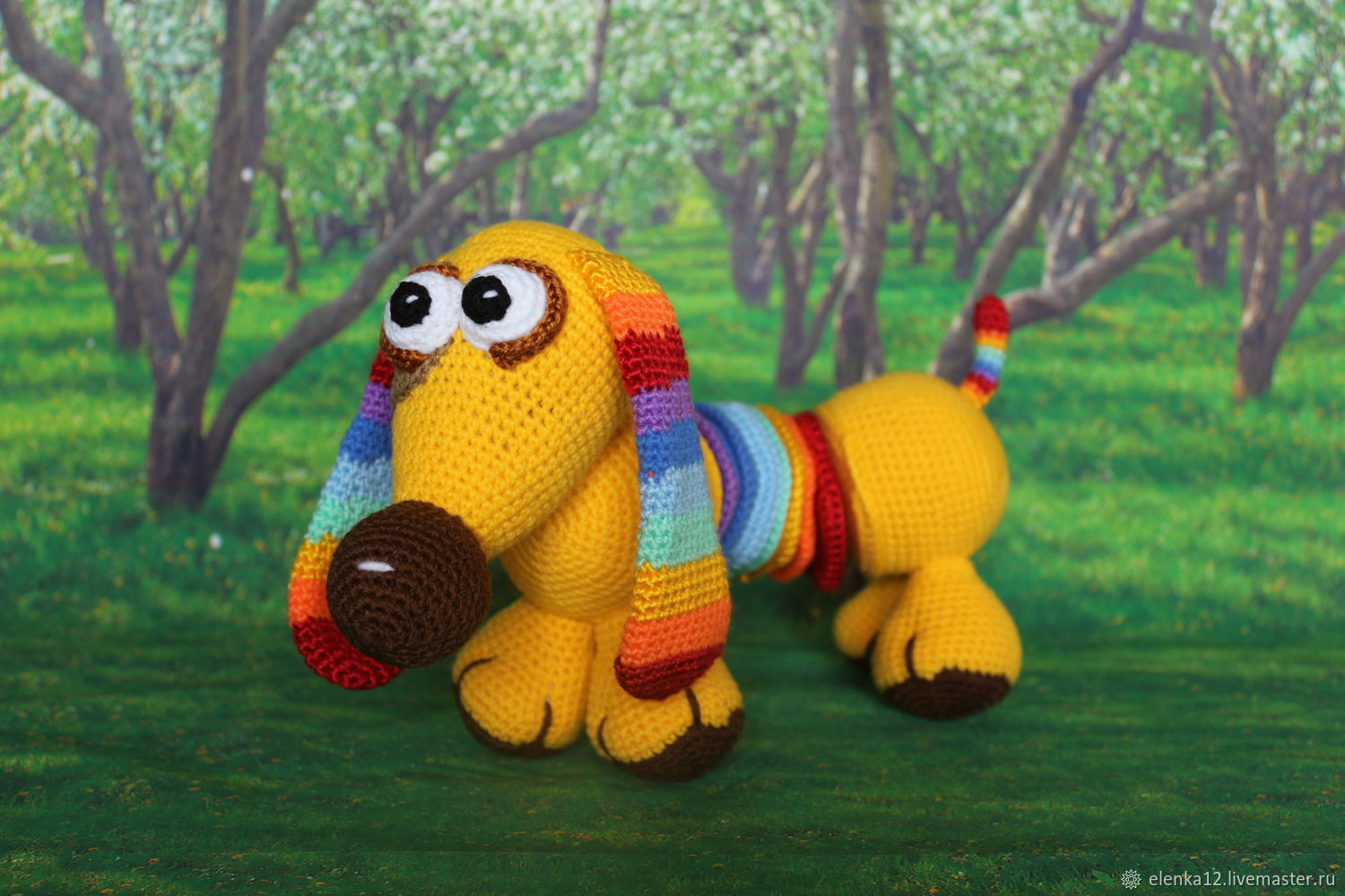 Educational toy Dachshund Rainbow, Stuffed Toys, St. Petersburg,  Фото №1