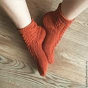 Аксессуары ручной работы. Ярмарка Мастеров - ручная работа Носочки женские мериносовые Lussien Socks. Handmade.